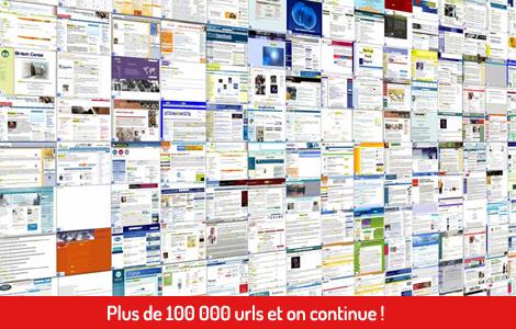 plus de 100000 URLs