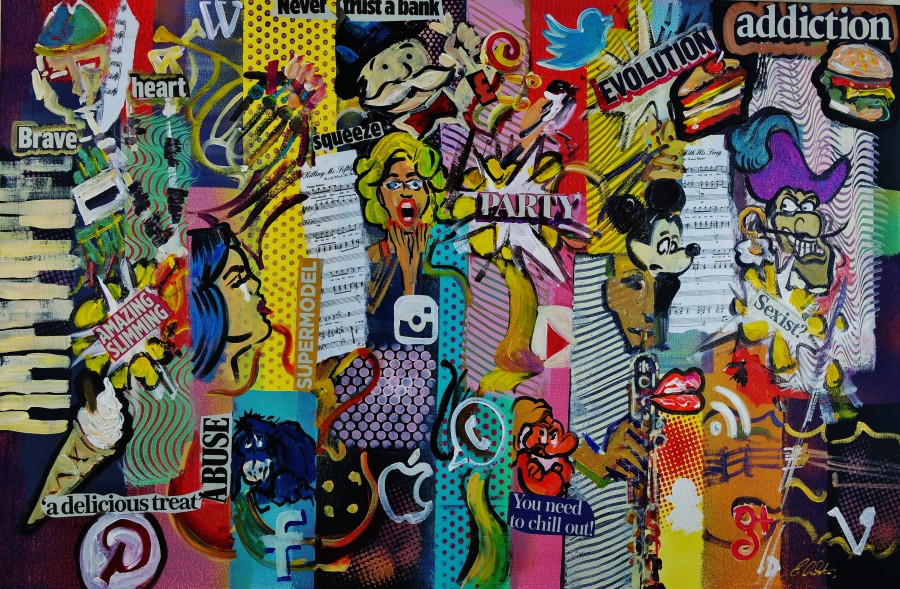 "Pop-Art Cubist Social Media Art"" par Eraclis Artistidou"
