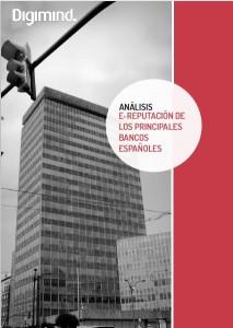 Portada de estudio Digimind: e-reputación de los principales bancos españoles