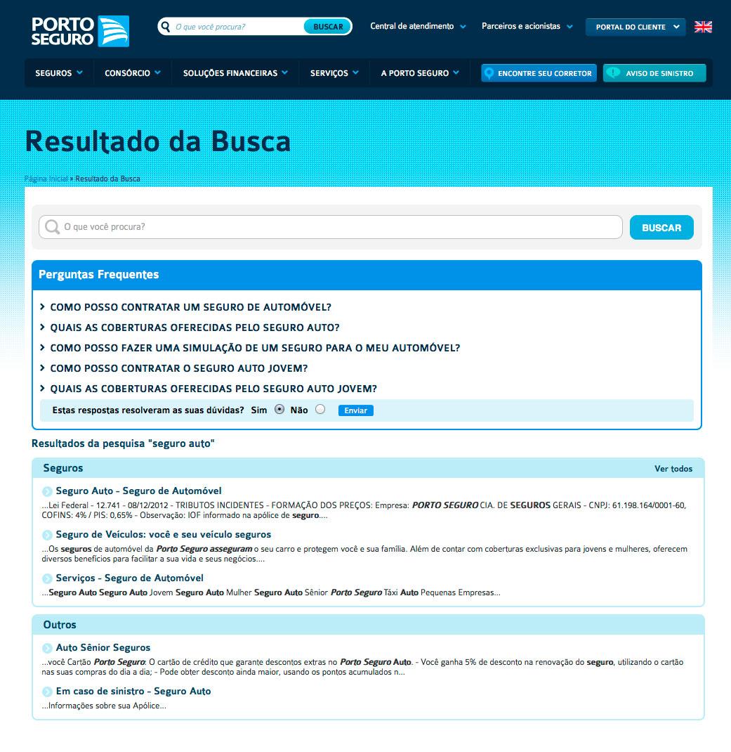 Chatbot intégré de Porto Seguro