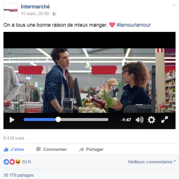 La vidéo de la dernière pub d'Intermarché, #lamourlamour