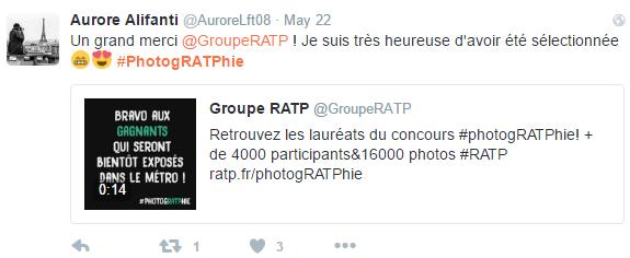 """Les gagnants du concourts ratp """"photogratphie"""""""