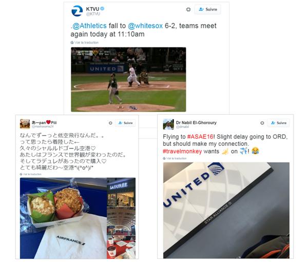 tweets mostrando ejemplos de reconocimiento de imagen