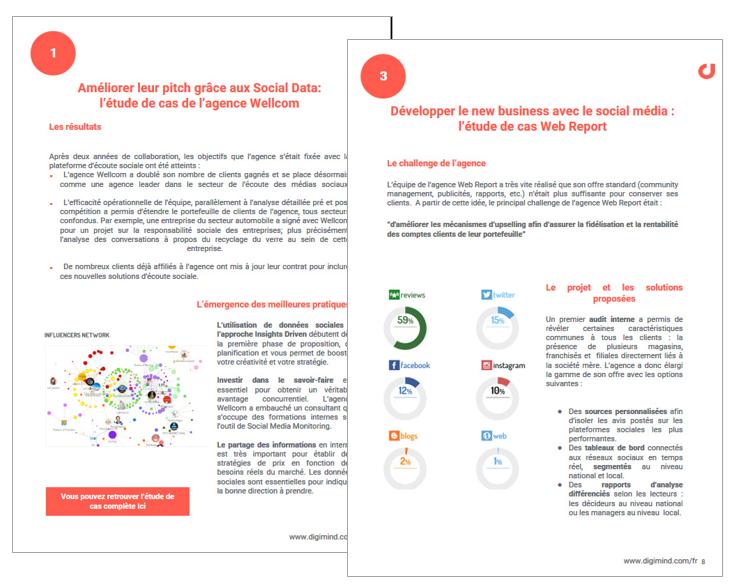 """Agences Digitales : le Handbook :""""Comment les agences augmentent leurs revenus avec l'écoute des médias sociaux"""""""