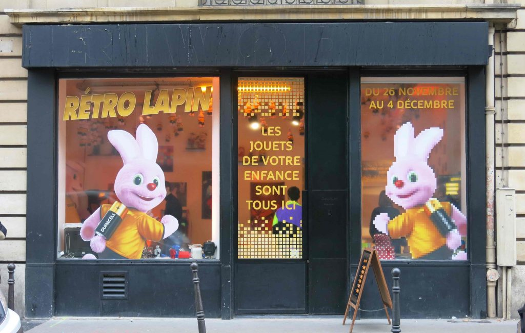 Retro lapin pop store
