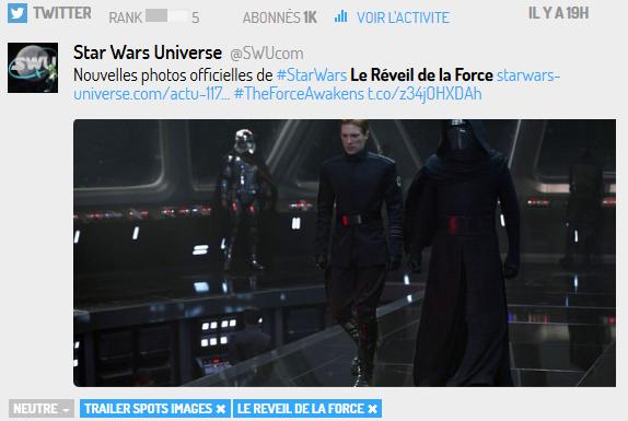 Twitter Le Réveil de la Force : les images