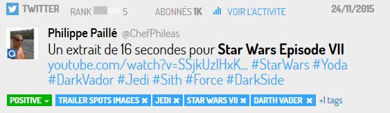 Twitter extraits Star Wars 7