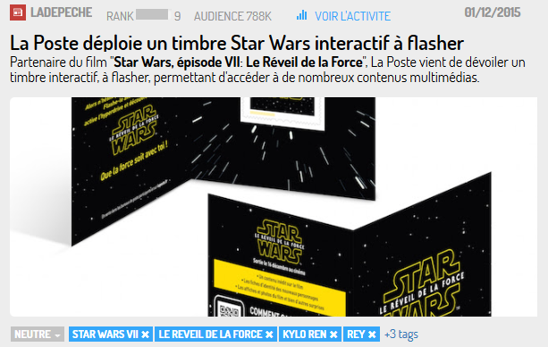 Même La Poste a lancé une grande campagne autour de Star Wars