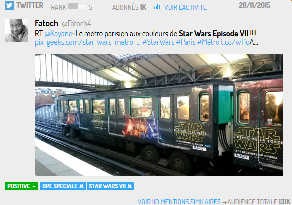 La RATP se met elle aussi aux couleurs de Star Wars VII