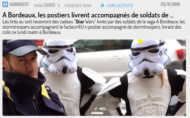...à Bordeaux pour les opérations de La Poste