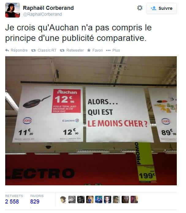 Auchan publicité comparative