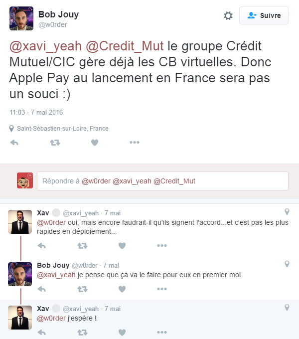 Credit mutuelle utilise Apple Pay