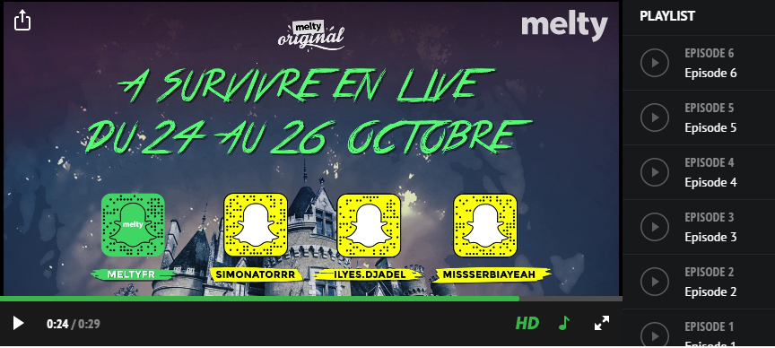 Snapchat : Snap Horror Story pour Halloween, Melty
