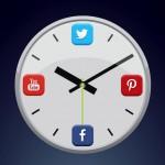 horloge social media