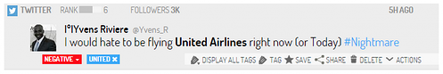 social media monitoring twitter united airlines