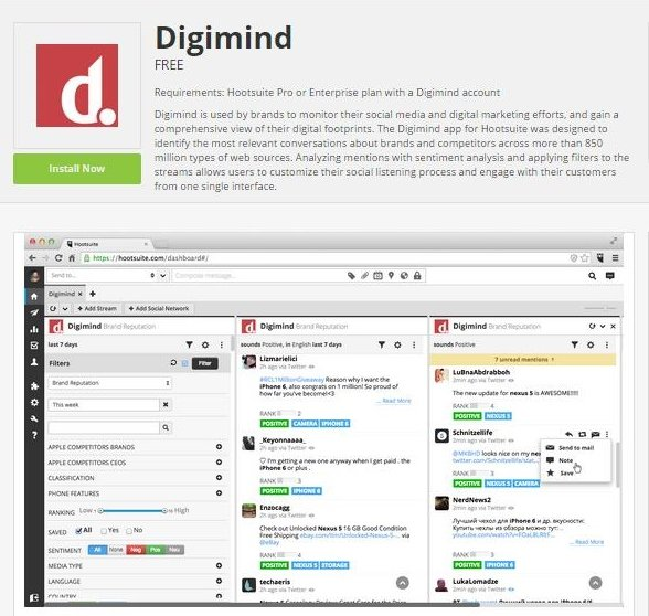 Digimind se asocia con Hootsuite