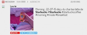 Mention négative pour le chai tea Starbucl