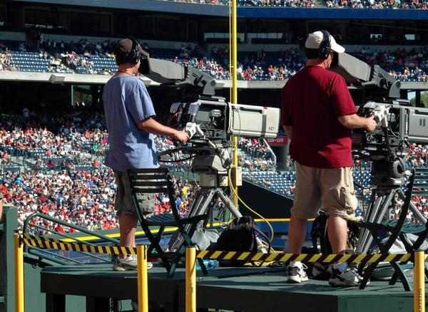 Tournage vidéo dans un stade