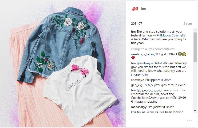 Outfit para un festival propuesto por H&M para coachella