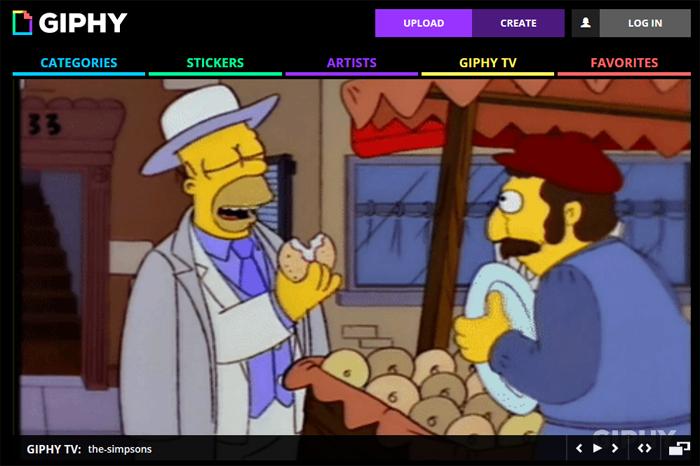 La chaîne SimpsonsTV sur Giphy