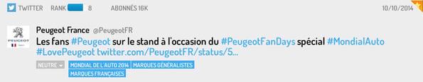 Fan Peugeot sur Twitter
