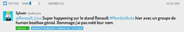 Tweet stand Renault
