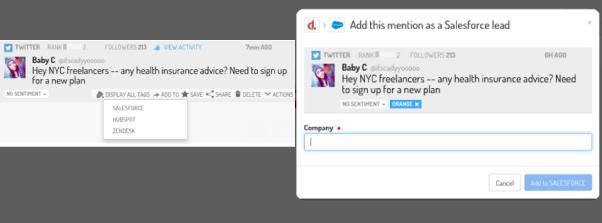 Tweet ajouté à salesforce