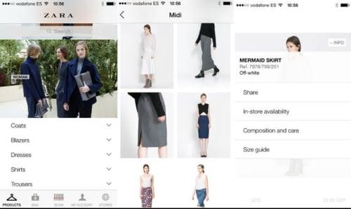 multichannel strategy: zara mobile app