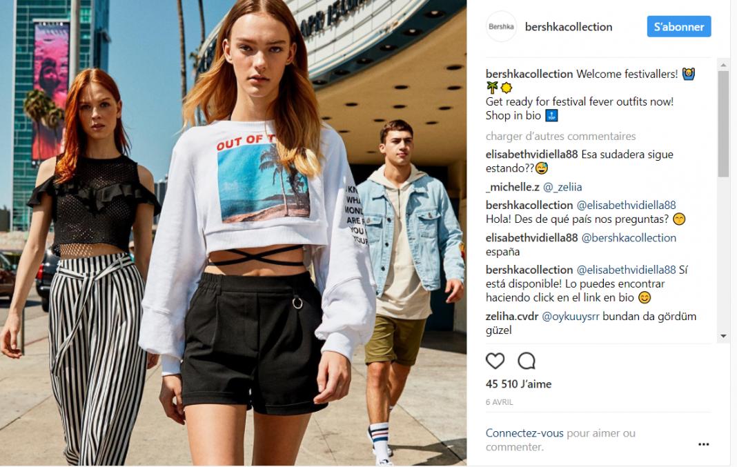 modelos de marcas de ropa mostrando una nueva colección