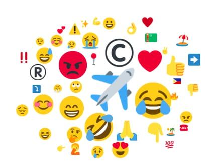 Les conversations en ligne sont classées par catégories afin de fournir  une compréhension visuelle des émotions envers votre marque.