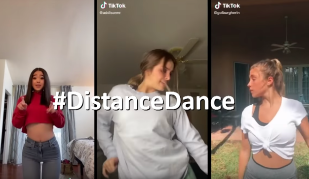 Videos musicales bajo el challenge #DistanceDance